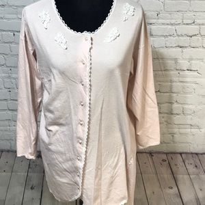Vintage VS Gold Label Cotton Nightgown Small Pink